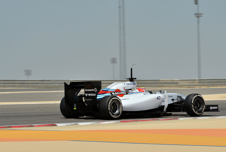 Felipe Nasr on track in the Williams