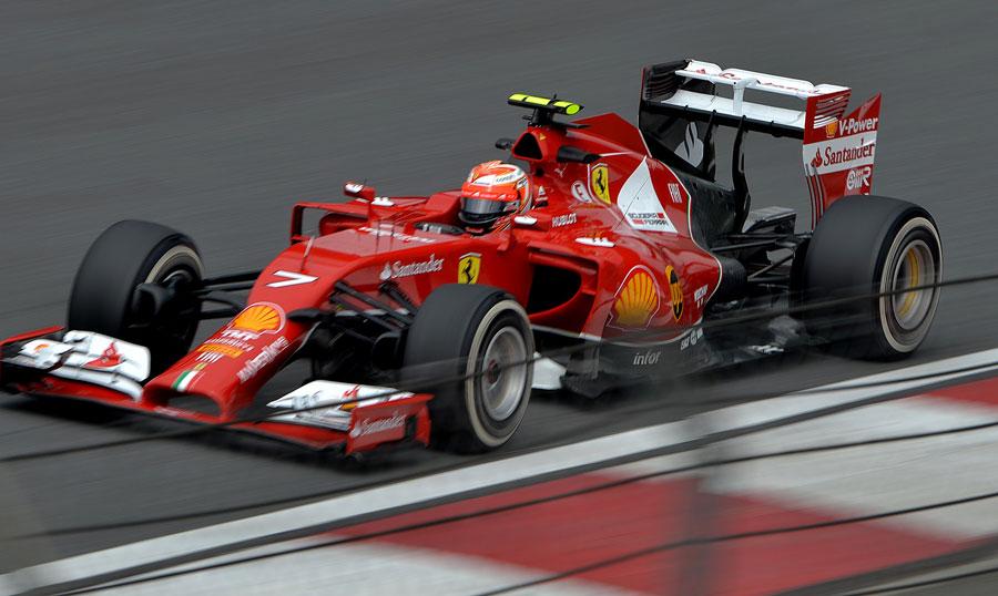 Kimi Raikkonen on track on Friday