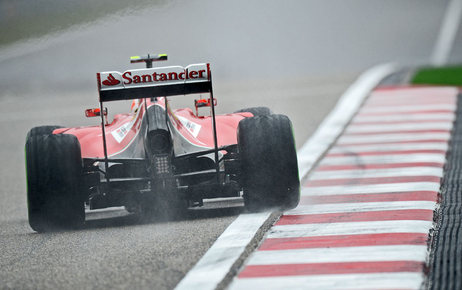 Kimi Raikkonen exits the final corner