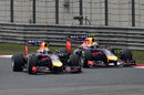 Daniel Ricciardo attacks Sebastian Vettel