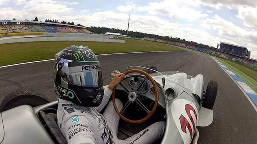 Nico Rosberg takes a