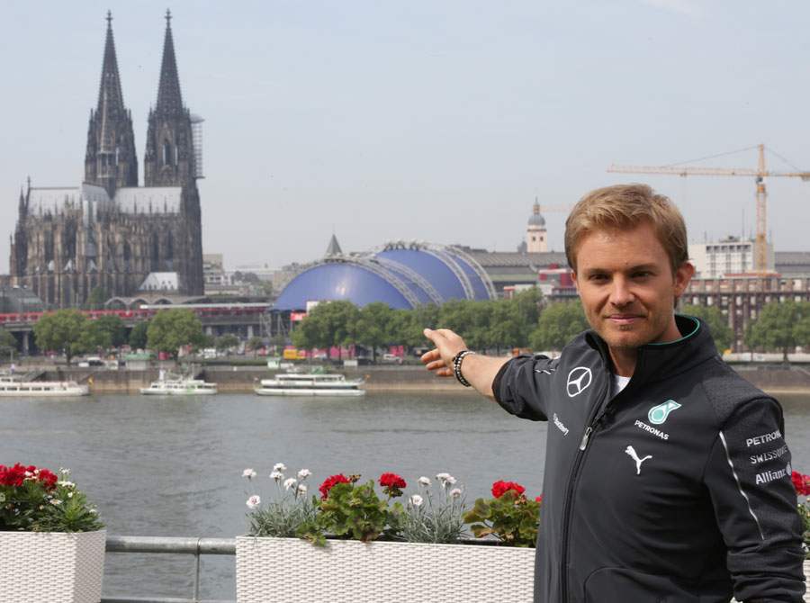 Nico Rosberg poses for a photo