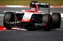 Marussia's Jules Bianchi takes a corner