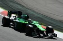 Kamui Kobayashi in action at the wheel of his Caterham