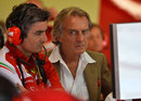 Marco Mattiacci and Luca di Montezemolo watch the timing screens