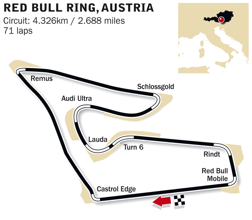 red bull ring spielberg formula 1 circuits red bull ring spielberg news and live f1 espn. Black Bedroom Furniture Sets. Home Design Ideas