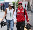 Kimi Raikkonen arrives in Monte Carlo with girlfriend Minttu Virtanen