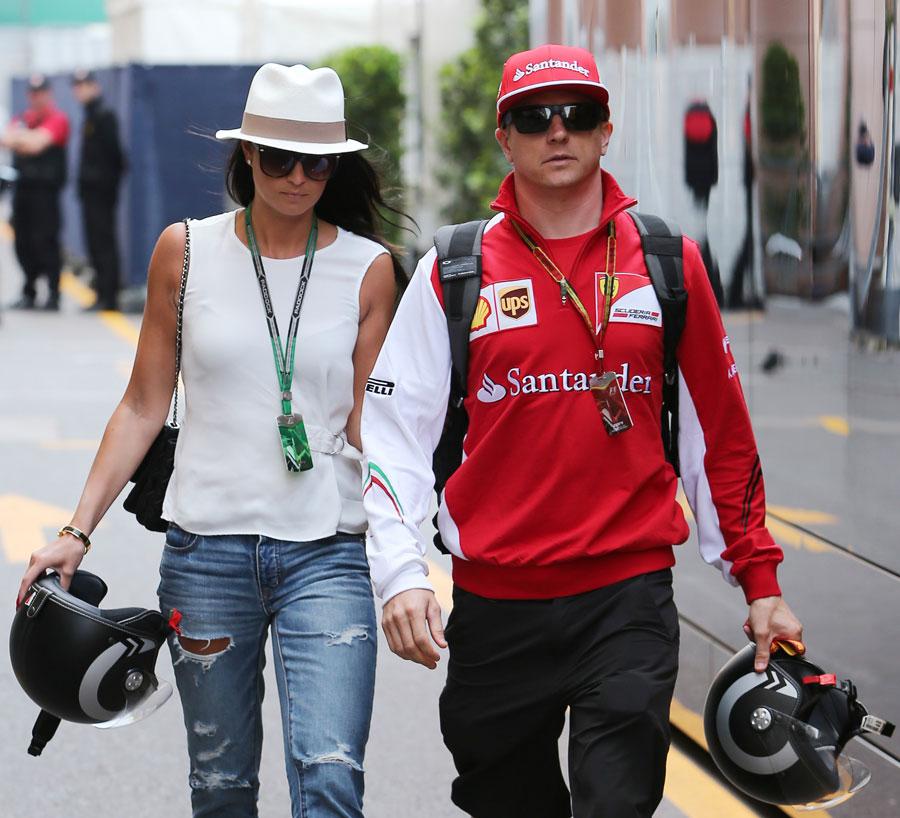 Kimi Raikkonen Arrives In Monte Carlo With Girlfriend