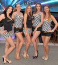 Promo girls pose for the cameras in Monte Carlo