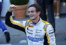 Stephane Richelmi celebrates his maiden GP2 victory on home soil in Monaco