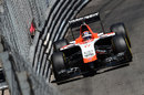 Jules Bianchi on track in the Marussia