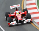 Fernando Alonso negotiates a left-hander