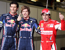 Mark Webber and Sebastian Vettel will start ahead of Fernando Alonso