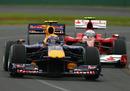 Mark Webber leads Fernando Alonso