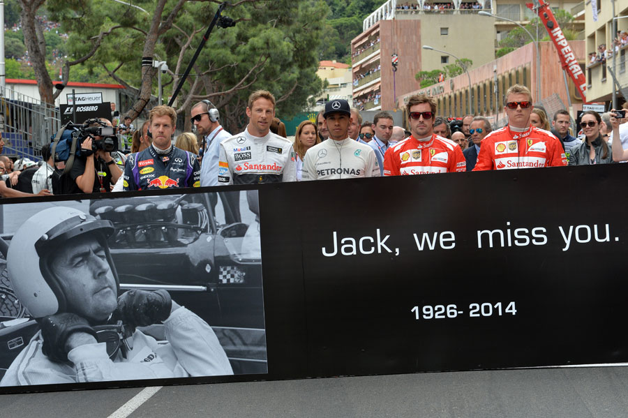The five former world champions pay tribute to the late Sir Jack Brabham