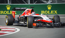 Jules Bianchi rounds the kerb at the Hairpin