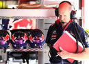 Adrian Newey in the Red Bull garage