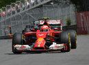 Kimi Raikkonen powers towards Turn 4 in Montreal