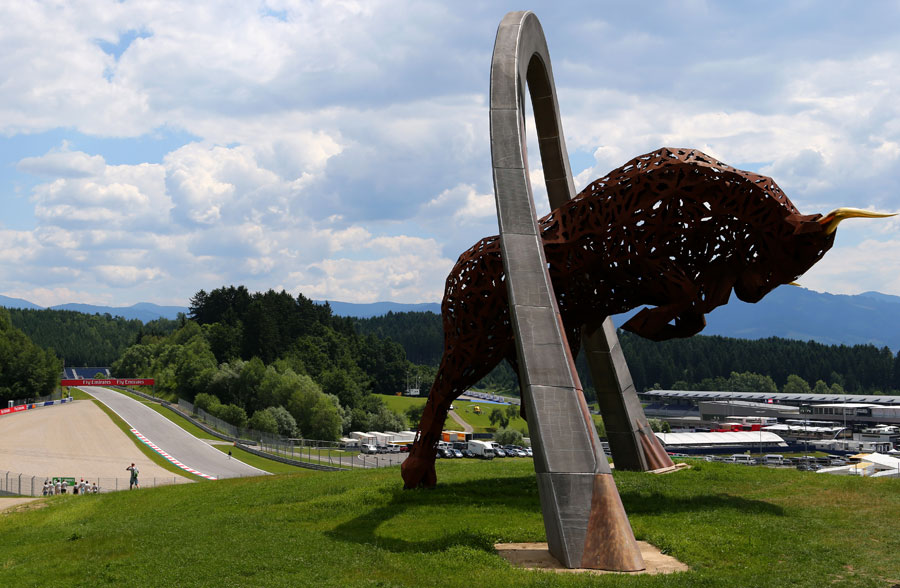 A view of the the Red Bull Ring in Spielberg