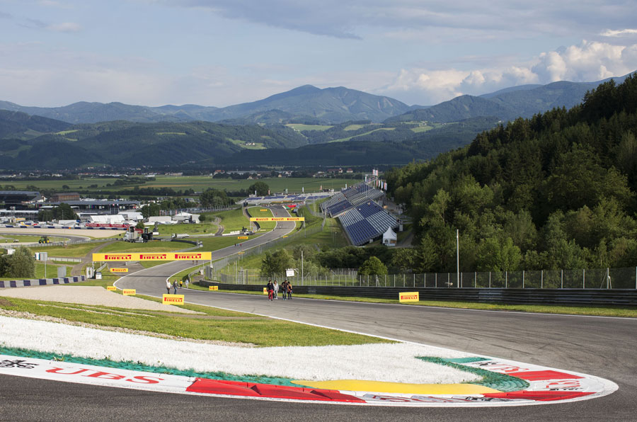 A general view of the Red Bull Ring and its surroundings