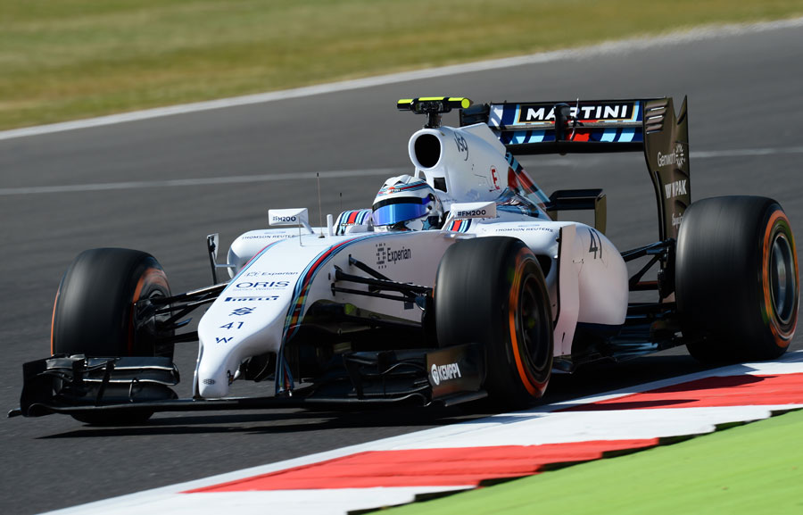 Susie Wolff on track during her landmark FP1 test