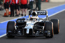 Stoffel Vandoorne heads out on track in the McLaren