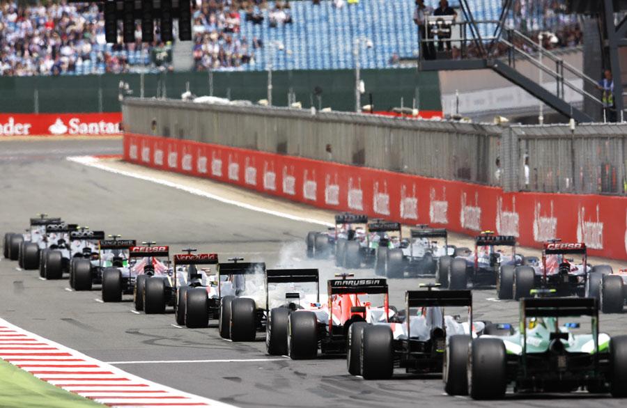 Felipe Massa's Williams smokes on the grid