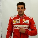 Jules Bianchi waits to start another run during his test at Silverstone