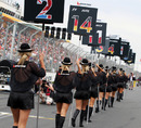 Grid girls parade