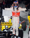 Jenson Button takes the plaudits