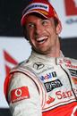 Jenson Button on the podium in Australia