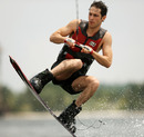 Bruno Senna  wakeboards at the Malaysian National Aquatic Centre ahead of this weekend's grand prix