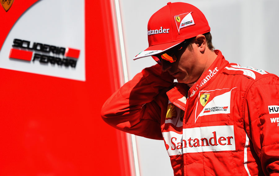 Kimi Raikkonen in the paddock