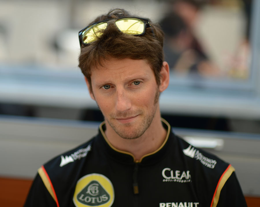 Romain Grosjean faces up to the media