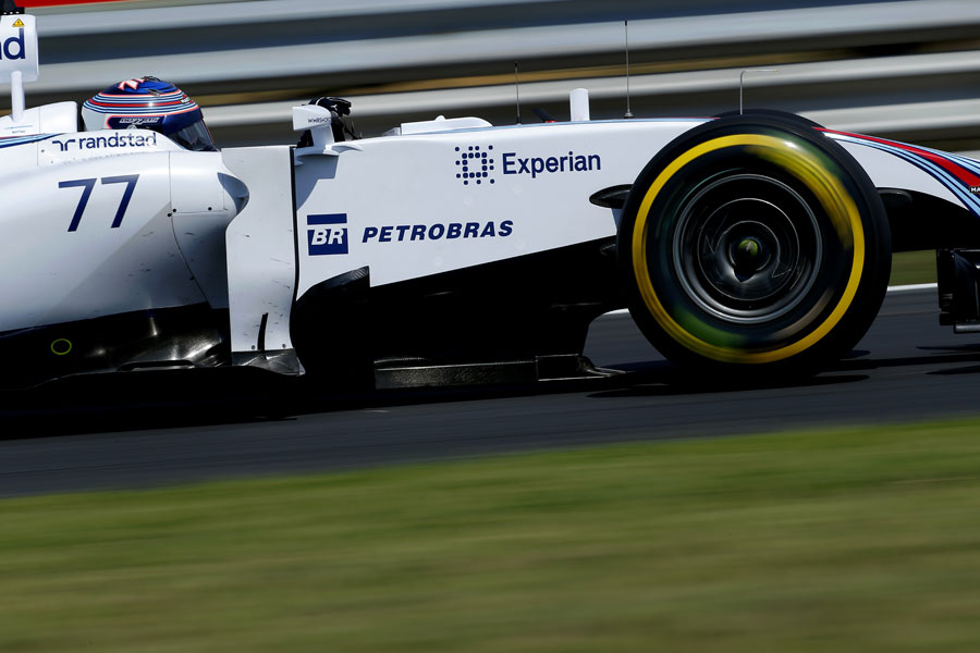 Valtteri Bottas at speed on Friday afternoon
