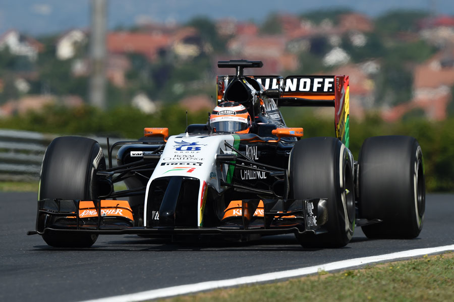 Nico Hulkenberg getting to grips with his Force India on Friday