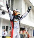 Stoffel Vandoorne celebrates