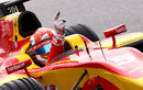 Raffaele Maricello celebrates his maiden GP2 victory