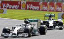 Nico Rosberg stalks Lewis Hamilton in the opening stages
