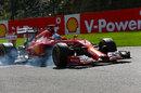 Fernando Alonso snatches at a brake