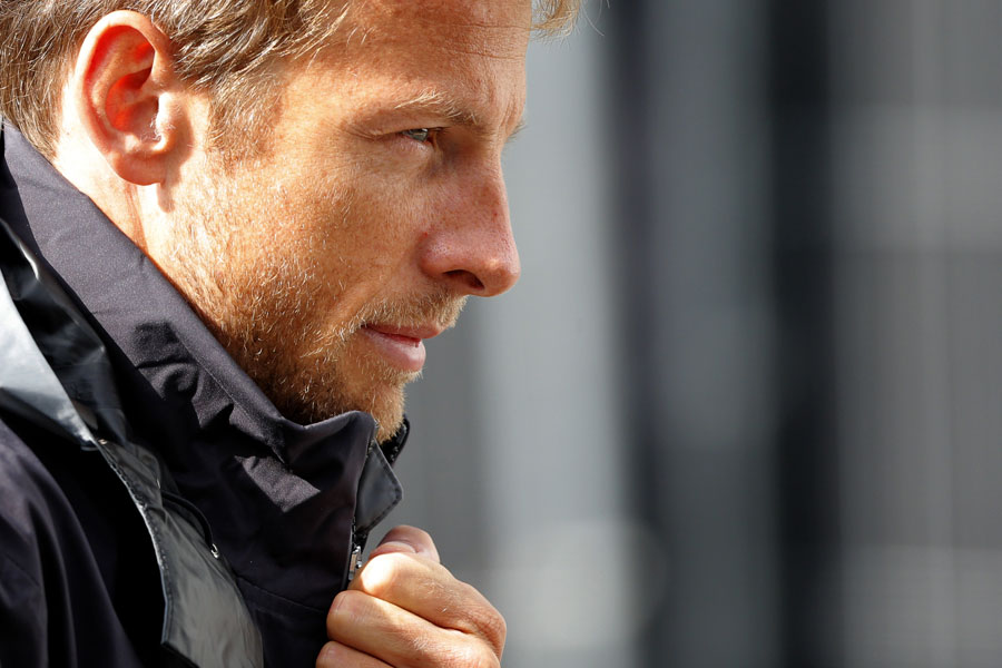 Jenson Button in the paddock