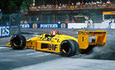 Nelson Piquet recovers from a spin in the Lotus