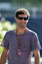Mark Webber visits the Monza paddock on Saturday