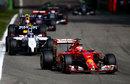 Kimi Raikkonen leads Valtteri Bottas