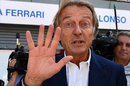 Luca di Montezemolo waves for the cameras