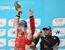 Lucas di Grassi celebrates victory in Formula E's inaugural race