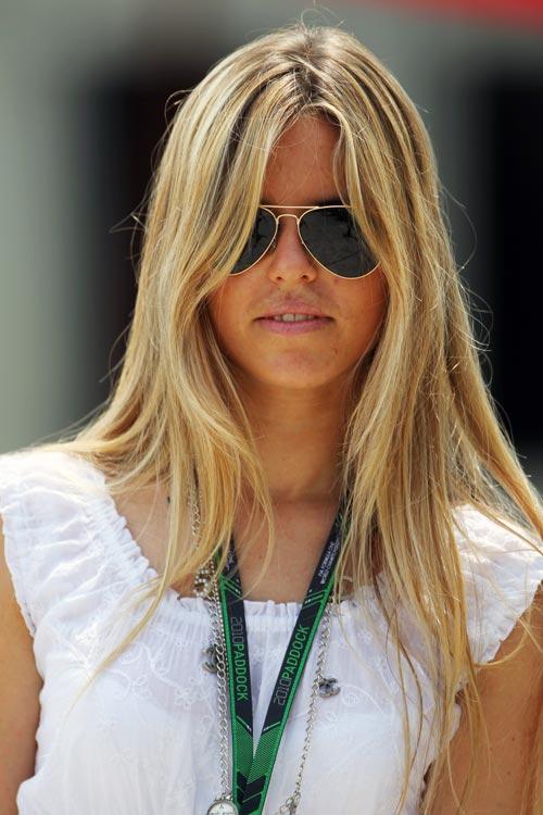 Vivian Sibold, Nico Rosberg's girlfriend   Malaysian Grand ...