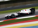 Kamui Kobayashi on the limit in the Sauber