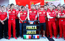 Ferrari sends a message of support to Jules Bianchi ahead of the Russian Grand Prix