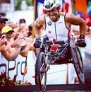 Alex Zanardi during the Ironman World Championship in Hawaii